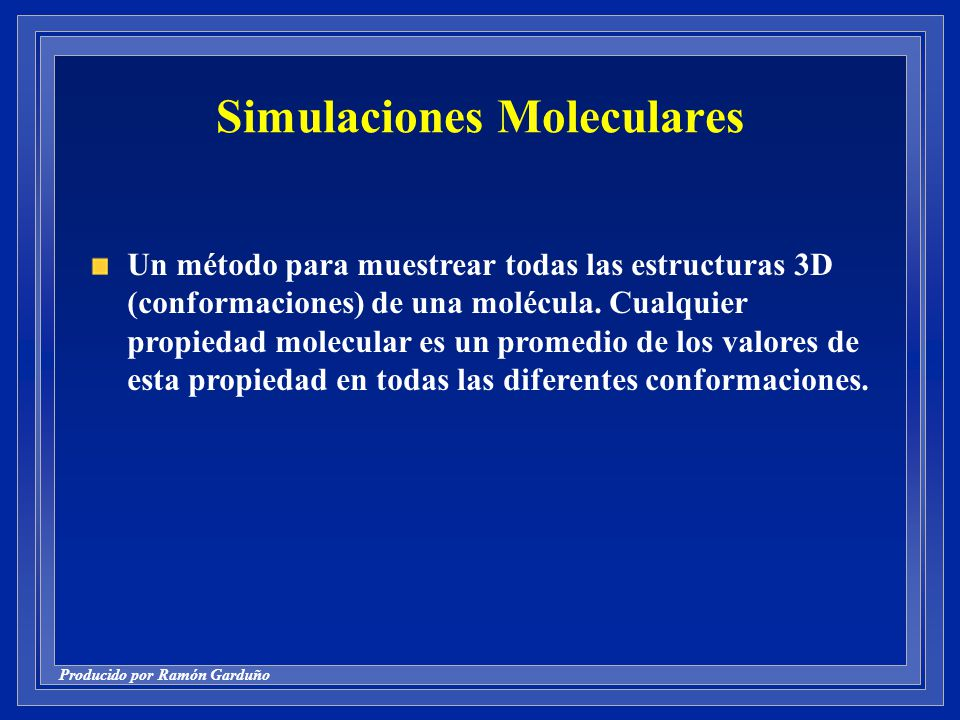 Simulaciones Moleculares