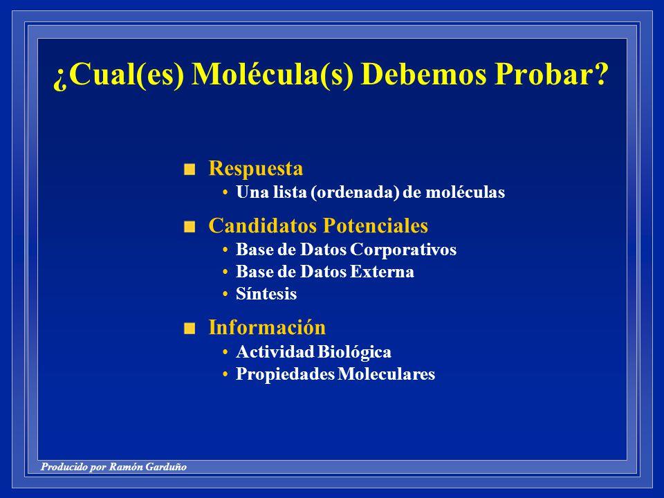 ¿Cual(es) Molécula(s) Debemos Probar