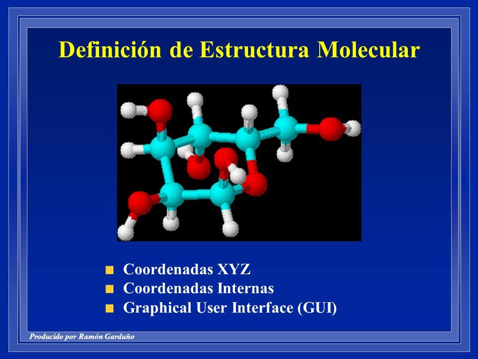 Definición de Estructura Molecular