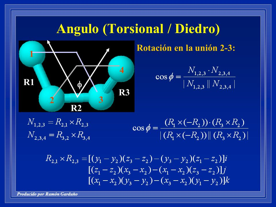 Angulo (Torsional / Diedro)