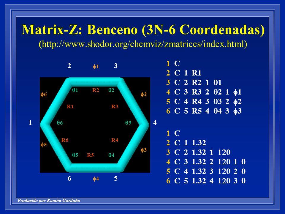 Matrix-Z: Benceno (3N-6 Coordenadas) (http://www. shodor