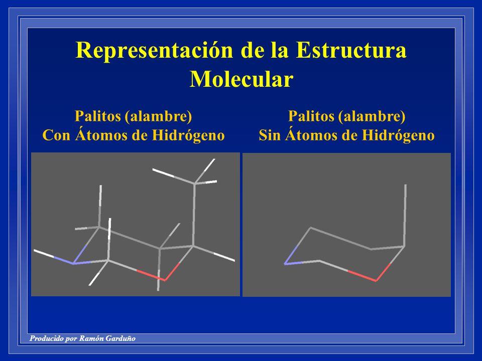 Representación de la Estructura Molecular