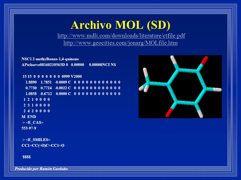 Archivo MOL (SD) http://www. mdli. com/downloads/literature/ctfile