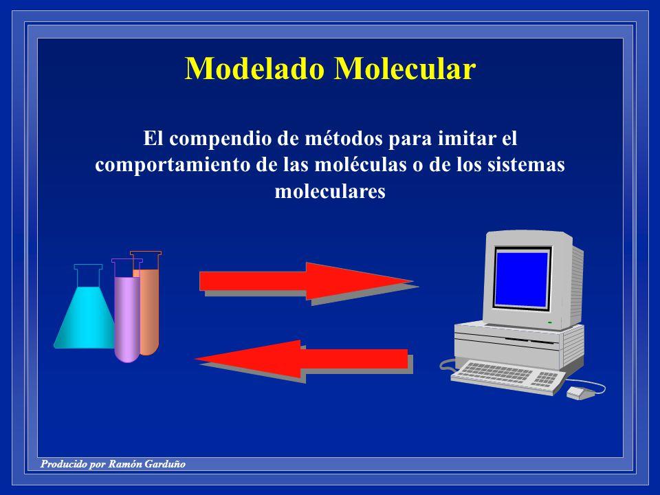Modelado Molecular El compendio de métodos para imitar el comportamiento de las moléculas o de los sistemas moleculares.
