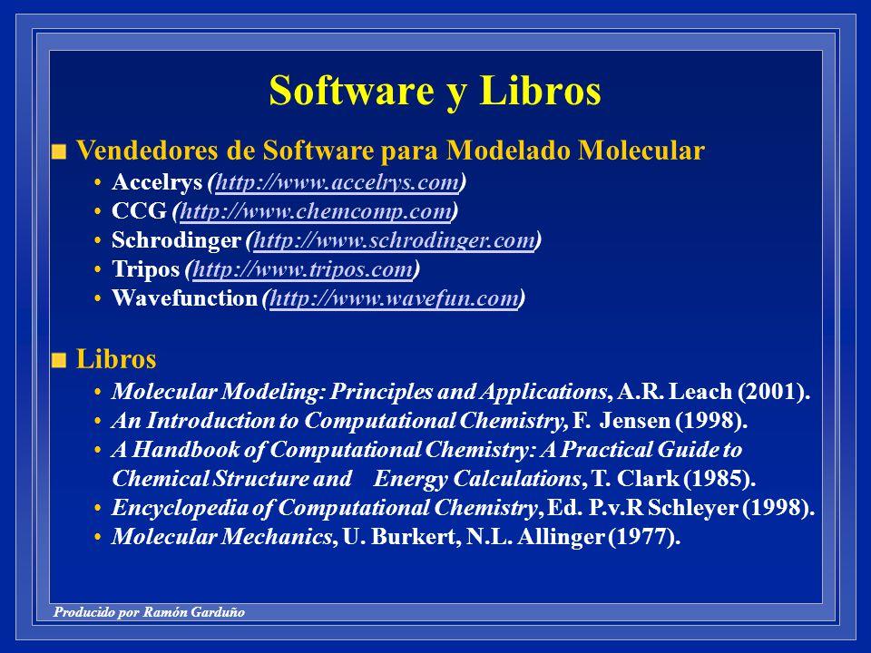Software y Libros Vendedores de Software para Modelado Molecular