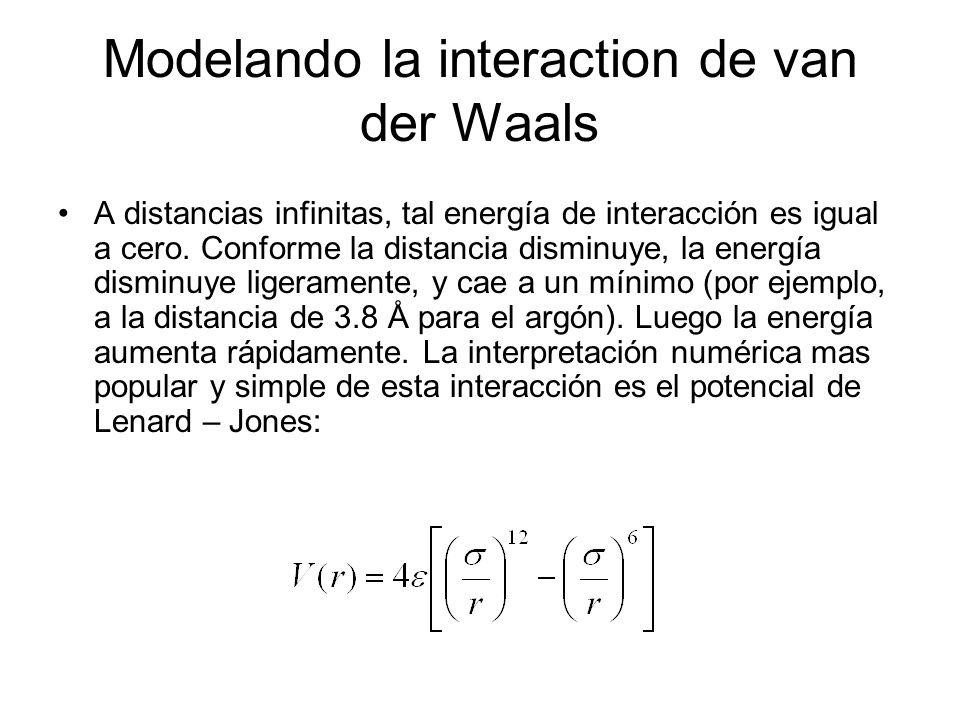 Modelando la interaction de van der Waals
