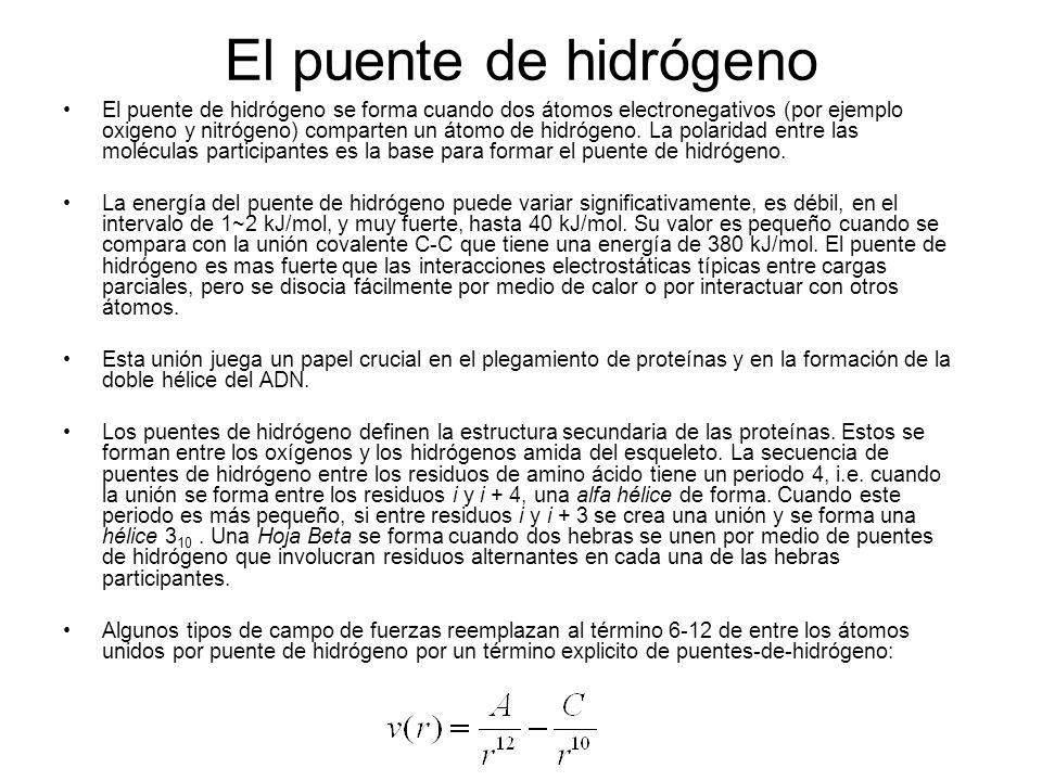 El puente de hidrógeno