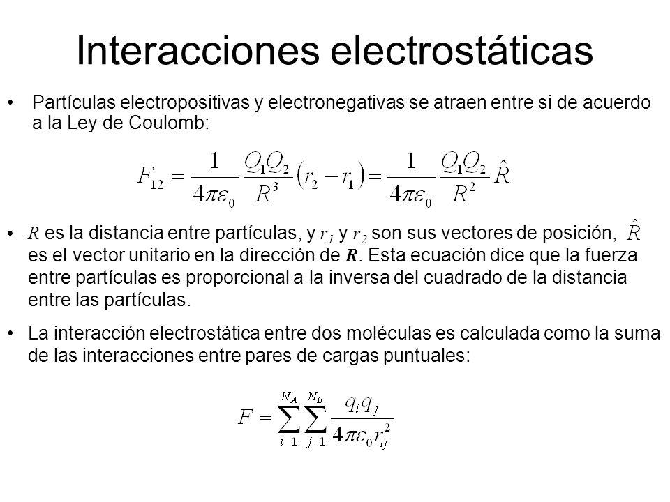 Interacciones electrostáticas