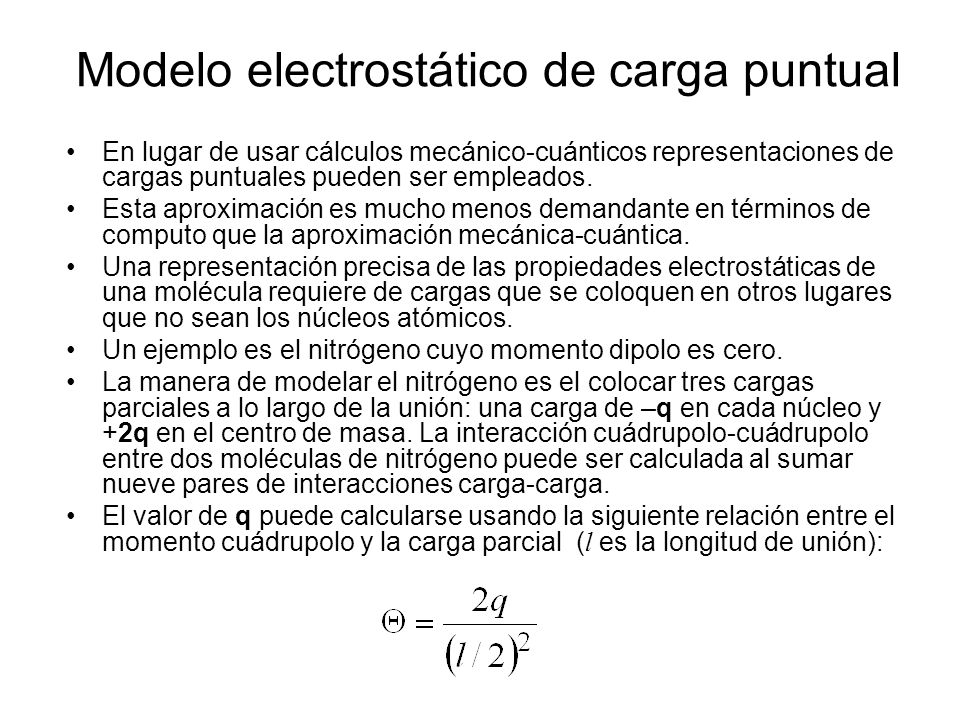 Modelo electrostático de carga puntual