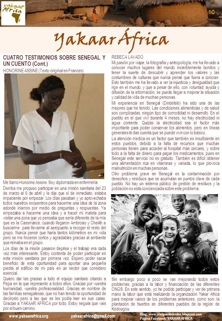 Yakaar África 10 CUATRO TESTIMONIOS SOBRE SENEGAL Y UN CUENTO (Cont.)