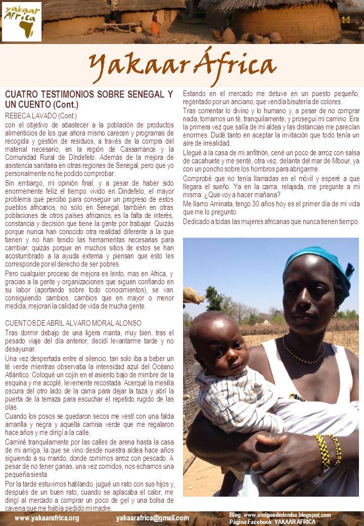 Yakaar África 11 CUATRO TESTIMONIOS SOBRE SENEGAL Y UN CUENTO (Cont.)