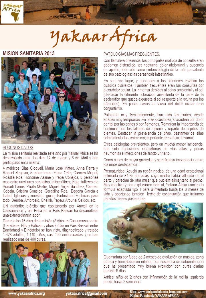 Yakaar África 2 MISION SANITARIA 2013 PATOLOGÍAS MAS FRECUENTES.