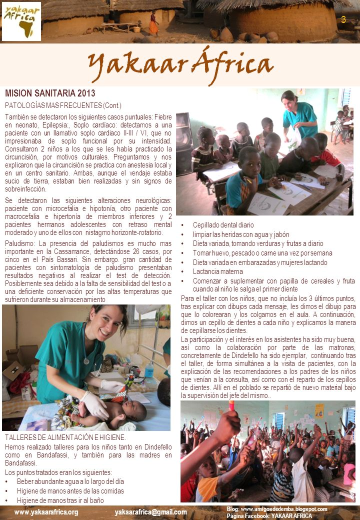Yakaar África 3 MISION SANITARIA 2013