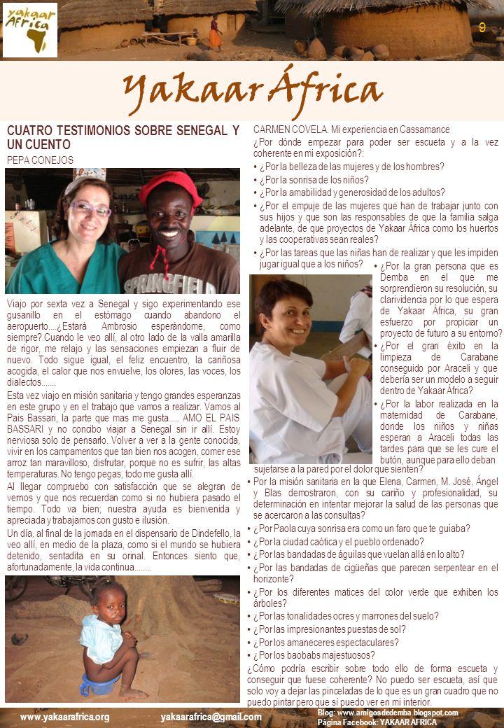 Yakaar África 9 CUATRO TESTIMONIOS SOBRE SENEGAL Y UN CUENTO