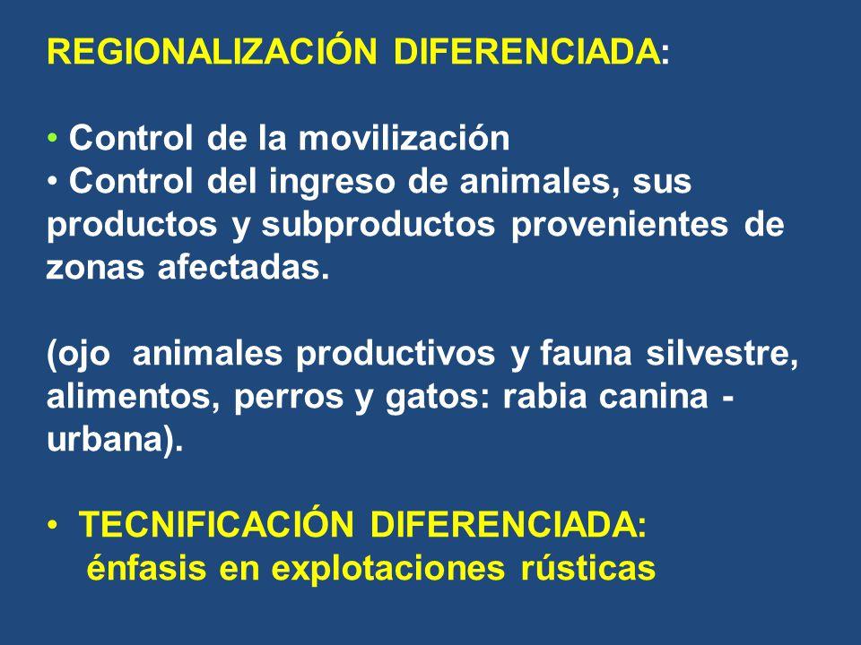 REGIONALIZACIÓN DIFERENCIADA: Control de la movilización