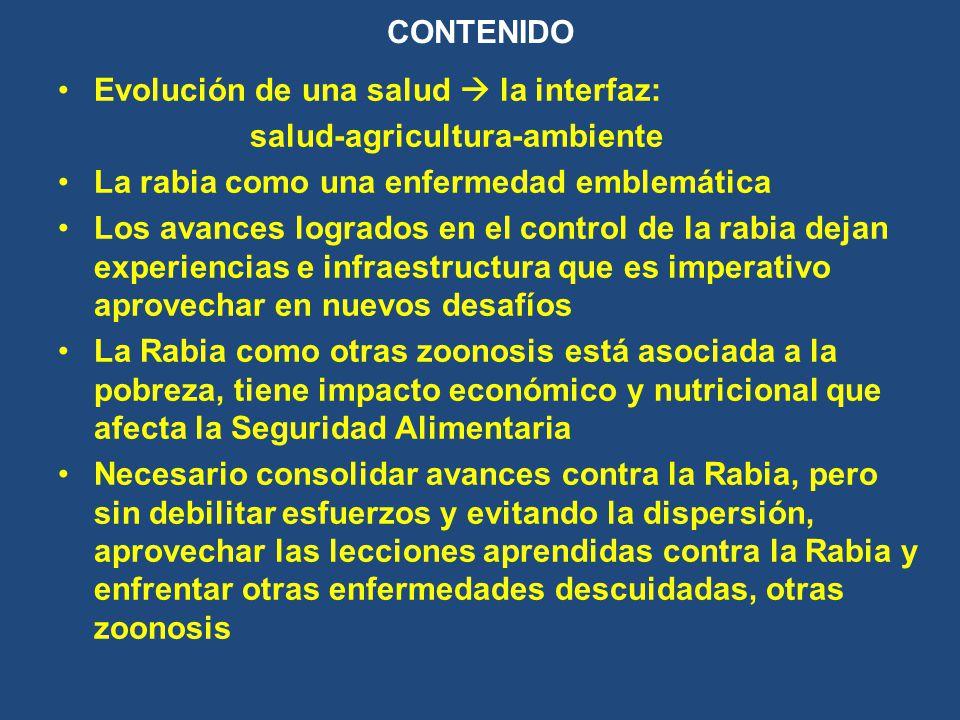 Evolución de una salud  la interfaz: salud-agricultura-ambiente