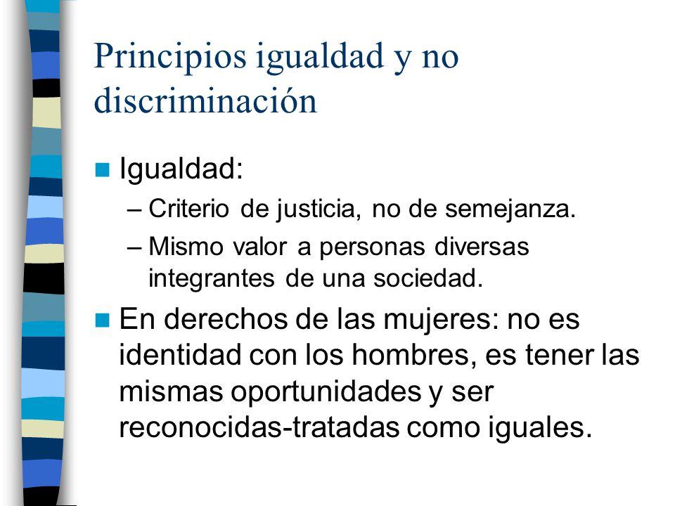Principios igualdad y no discriminación