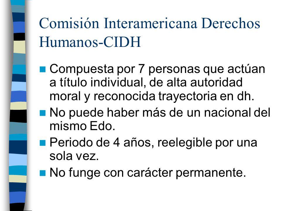 Comisión Interamericana Derechos Humanos-CIDH