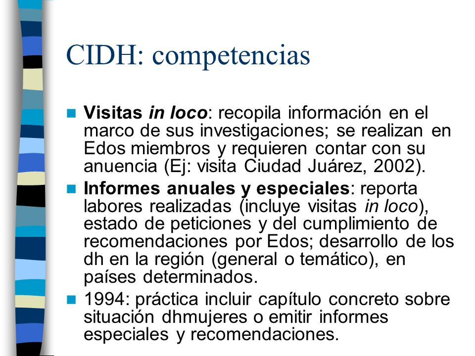 CIDH: competencias