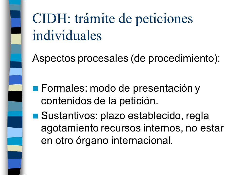 CIDH: trámite de peticiones individuales