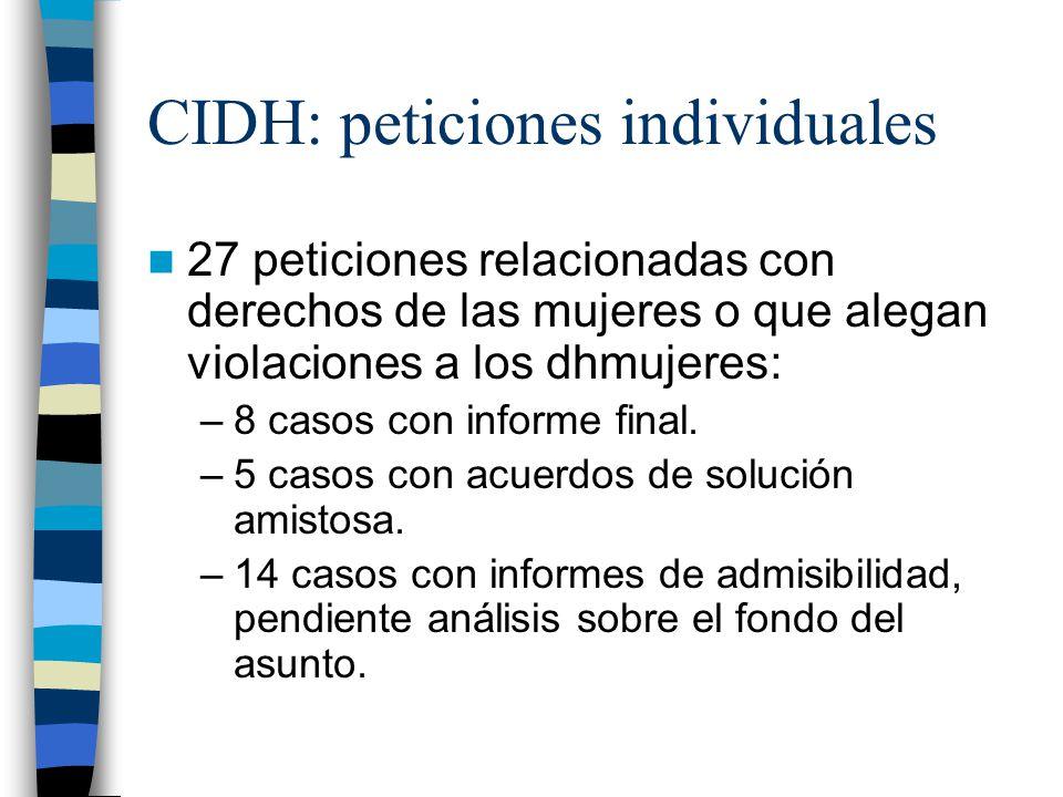 CIDH: peticiones individuales