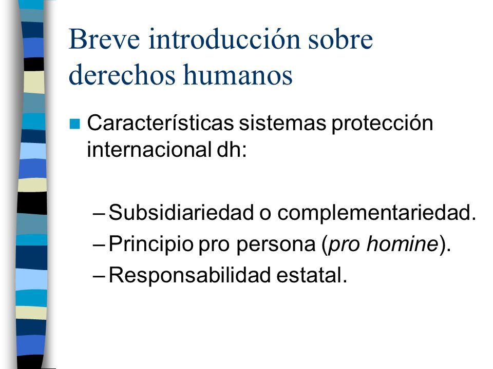 Breve introducción sobre derechos humanos
