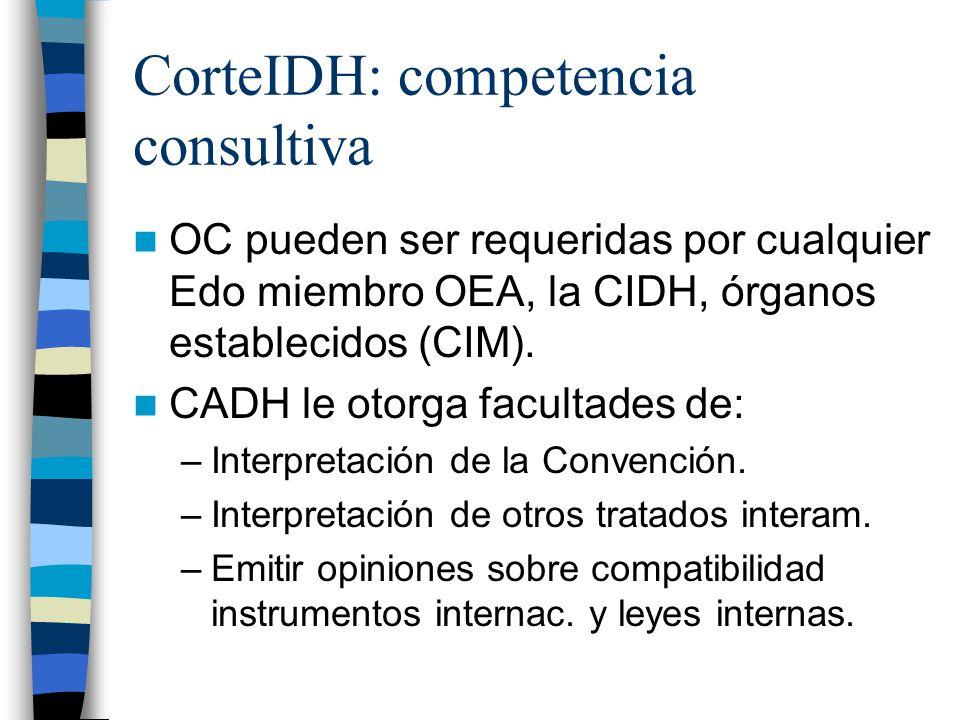 CorteIDH: competencia consultiva