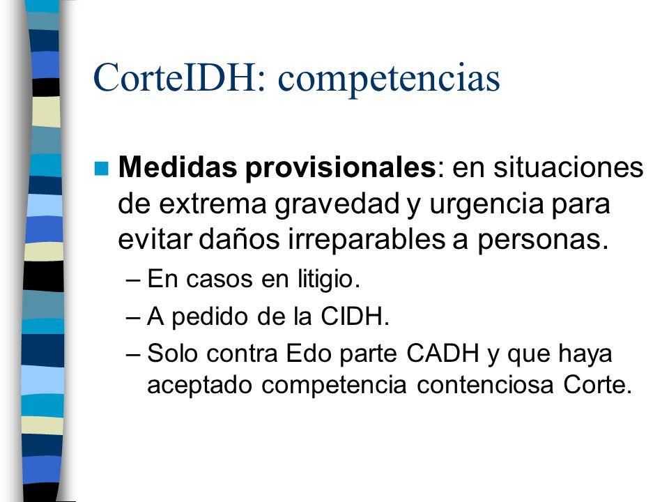 CorteIDH: competencias