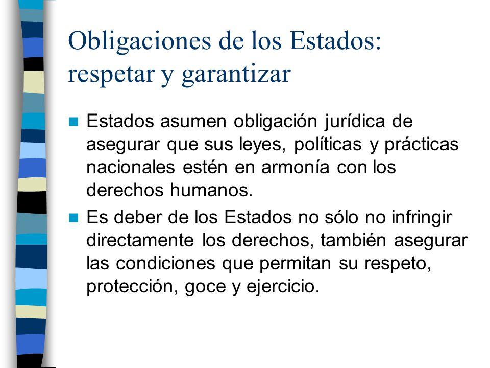 Obligaciones de los Estados: respetar y garantizar