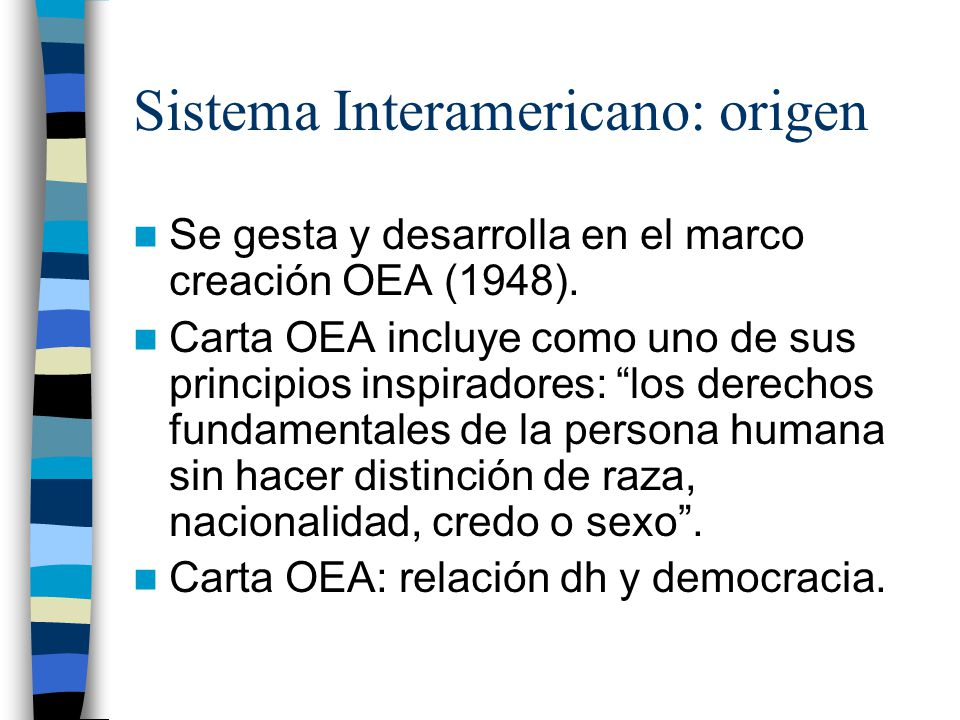 Sistema Interamericano: origen