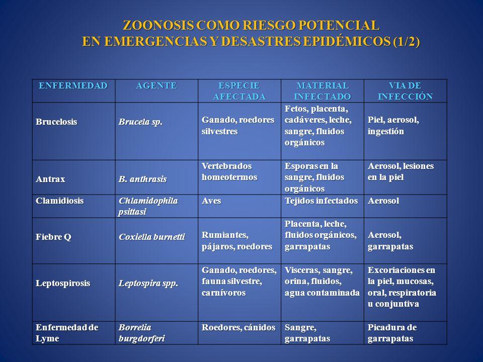 ZOONOSIS COMO RIESGO POTENCIAL