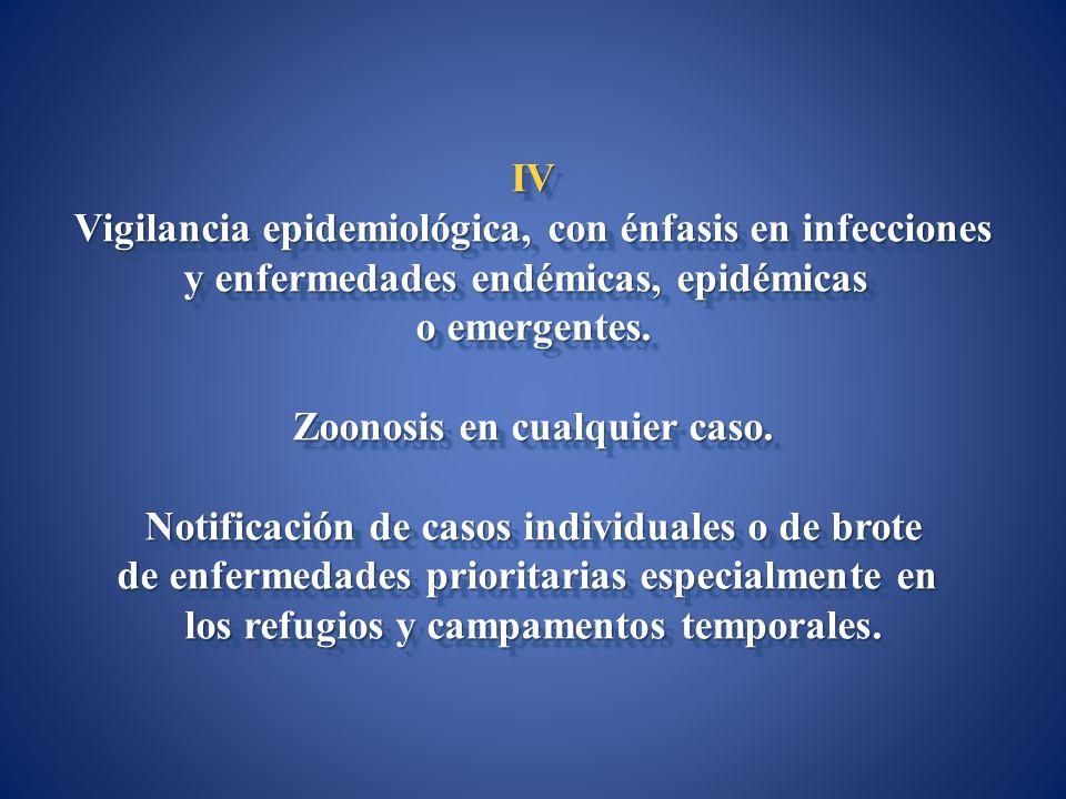 Vigilancia epidemiológica, con énfasis en infecciones