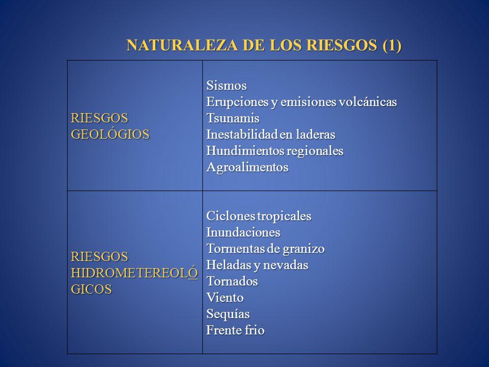 NATURALEZA DE LOS RIESGOS (1)