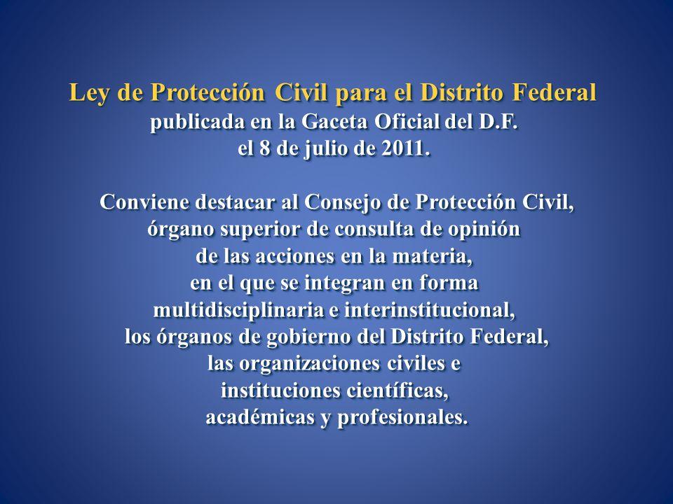 Ley de Protección Civil para el Distrito Federal