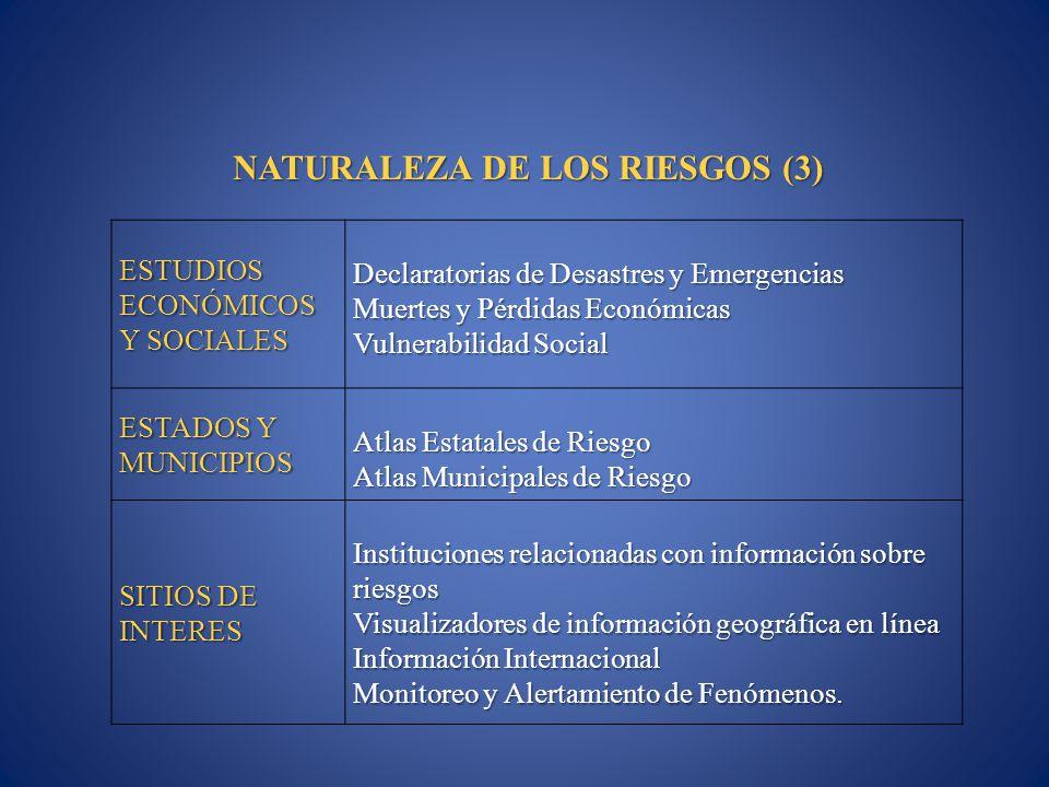 NATURALEZA DE LOS RIESGOS (3)