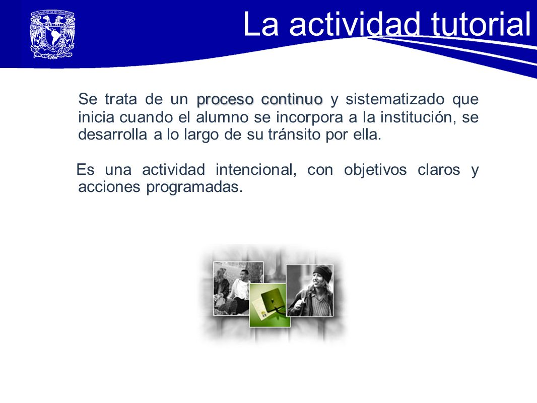 La actividad tutorial