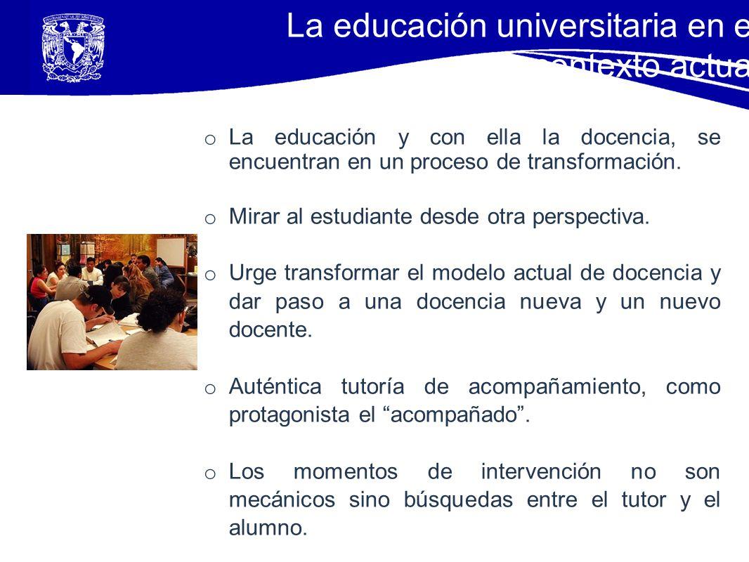La educación universitaria en el contexto actual