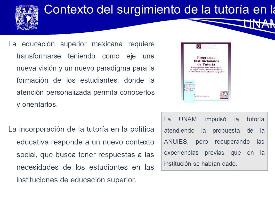 Contexto del surgimiento de la tutoría en la UNAM