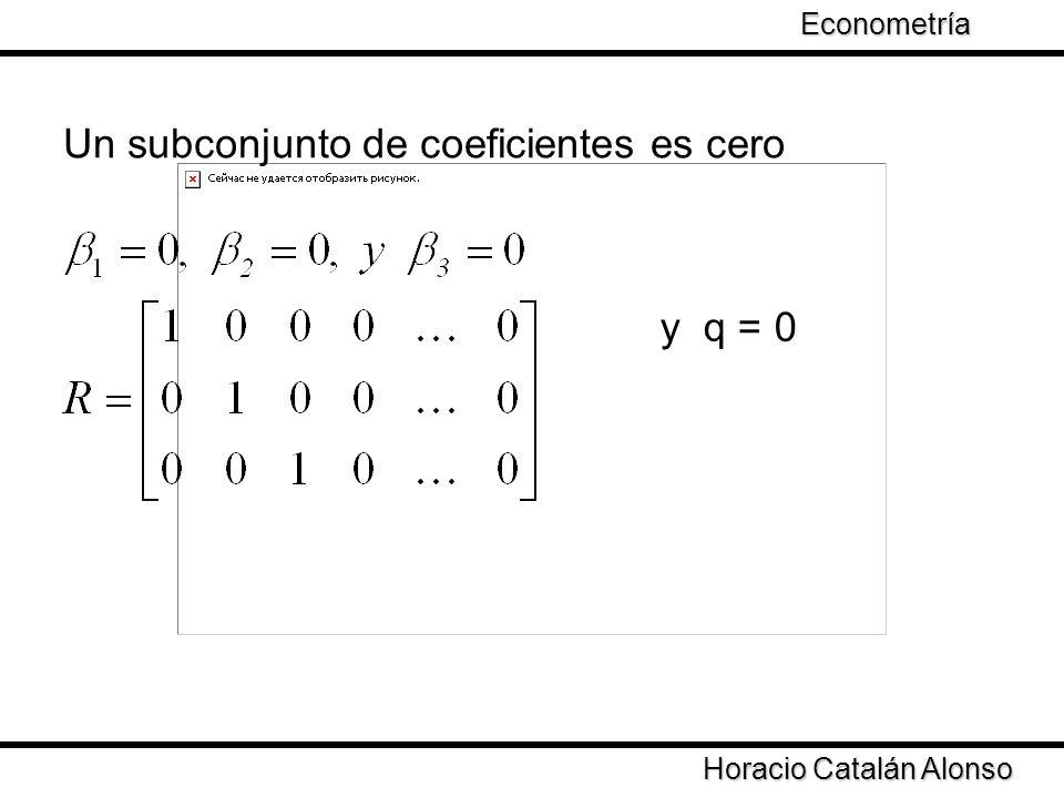 Un subconjunto de coeficientes es cero