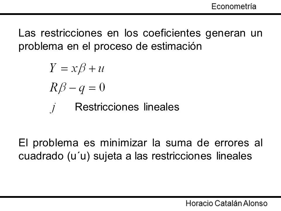 Restricciones lineales