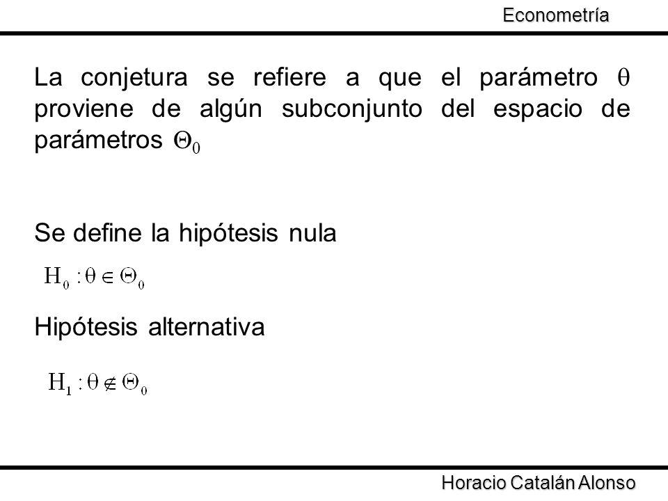 Se define la hipótesis nula