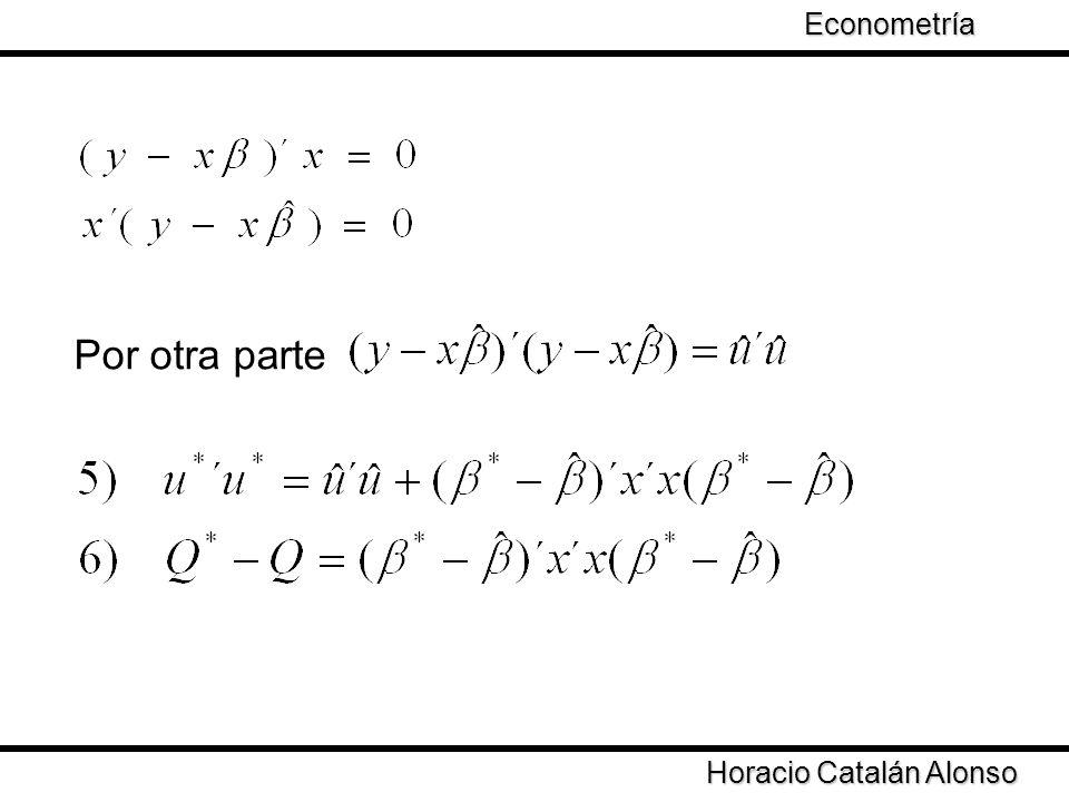 Por otra parte Econometría Taller de Econometría