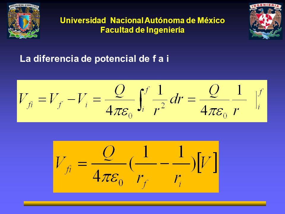 La diferencia de potencial de f a i