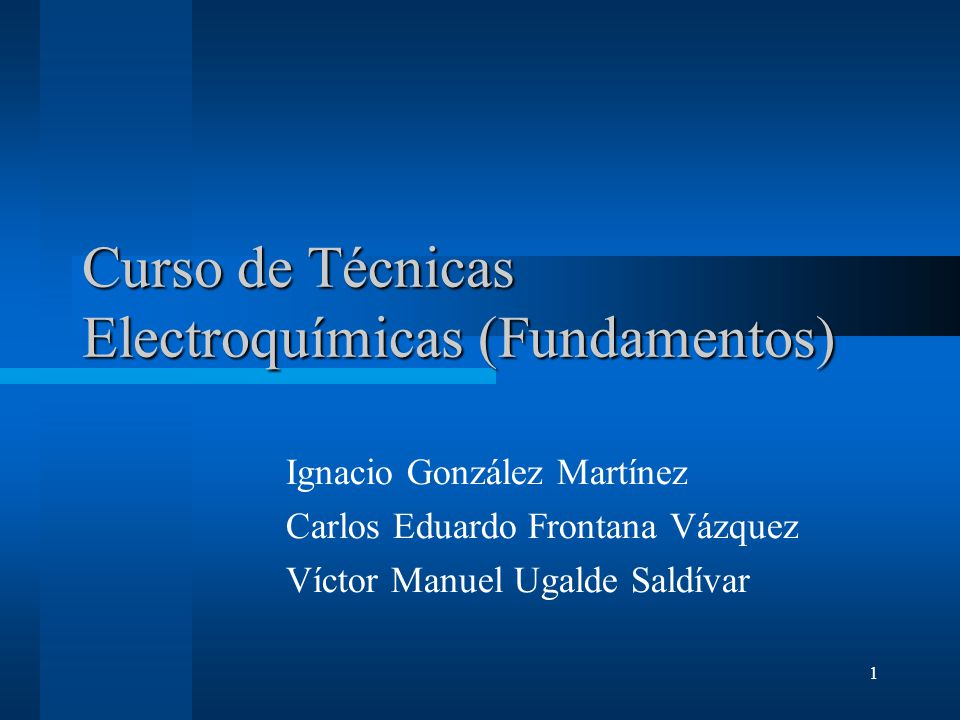 Curso de Técnicas Electroquímicas (Fundamentos)