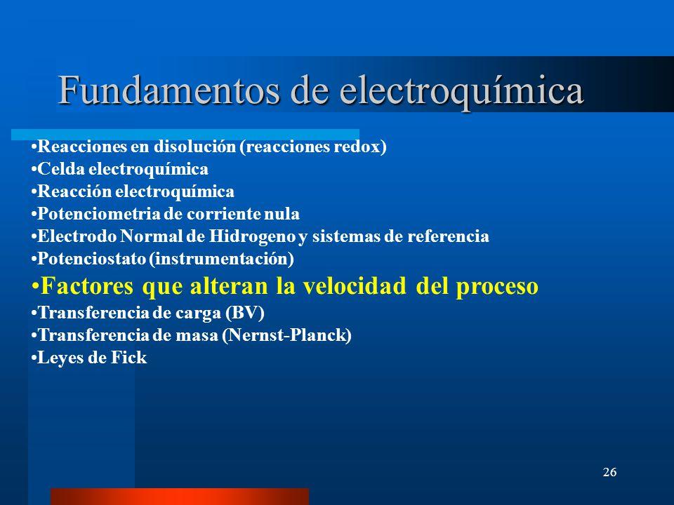 Fundamentos de electroquímica