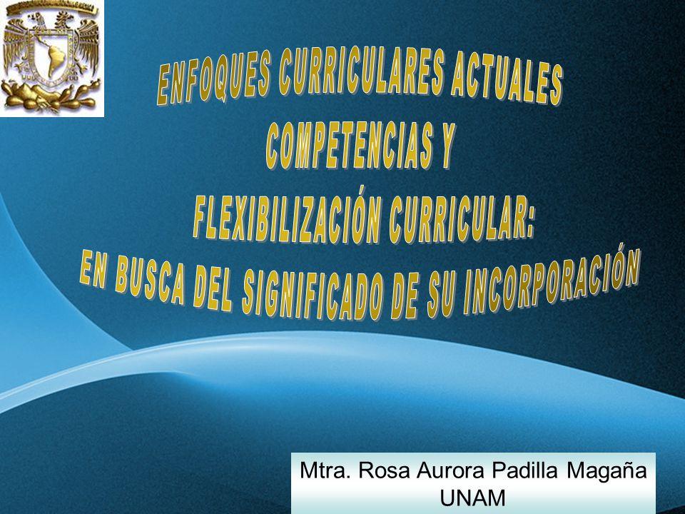 ENFOQUES CURRICULARES ACTUALES COMPETENCIAS Y
