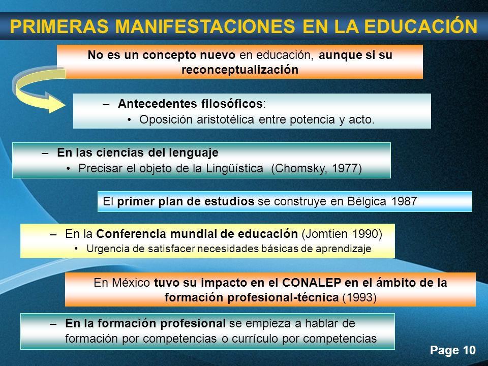 PRIMERAS MANIFESTACIONES EN LA EDUCACIÓN
