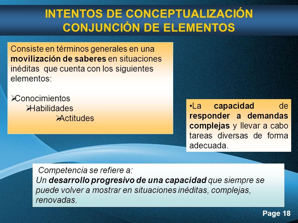 INTENTOS DE CONCEPTUALIZACIÓN CONJUNCIÓN DE ELEMENTOS