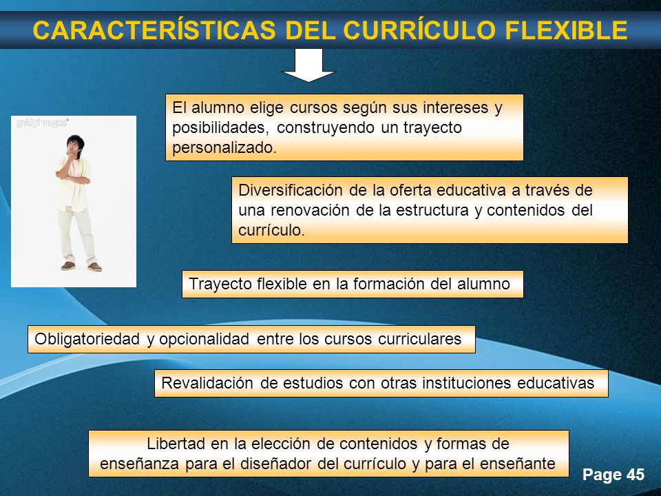 CARACTERÍSTICAS DEL CURRÍCULO FLEXIBLE