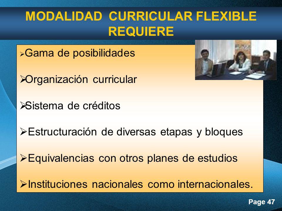 MODALIDAD CURRICULAR FLEXIBLE REQUIERE